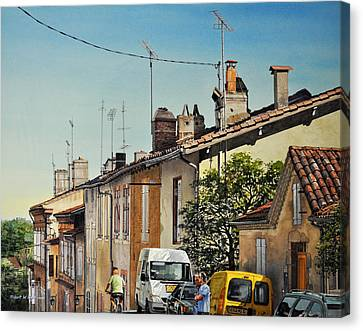 Chimneys Of Auch Canvas Print by Robert W Cook
