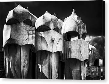 Union Terrace Canvas Print - Chimneys Of Gaudi by George Oze