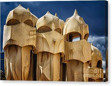 Union Terrace Canvas Print - Chimneys Of La Pedrera by George Oze