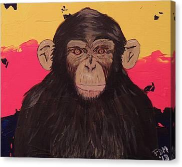 Chimp In Prime Canvas Print