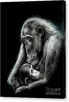 Chimp Love Canvas Print by Anastasis  Anastasi