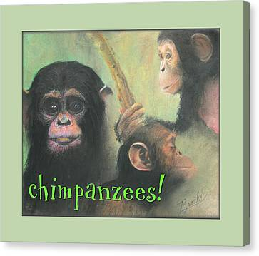 Canvas Print featuring the pastel Chimpanzees - Art 4 Kids by Brooks Garten Hauschild