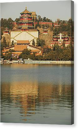 China, Beijing, Summer Palace, Temple Canvas Print by Anthony Asael