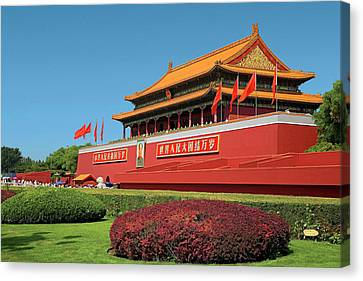 Law Enforcement Canvas Print - China, Beijing, The Forbidden City by Miva Stock