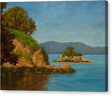 China Camp And Rat Island Canvas Print by Steven Guy Bilodeau
