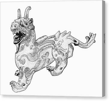 China Chimera Canvas Print