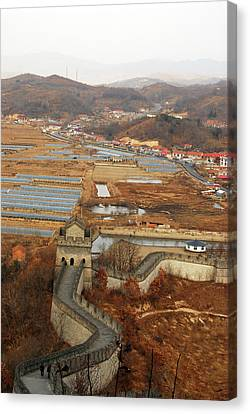 China, Dandong, Elevated View Canvas Print by Anthony Asael