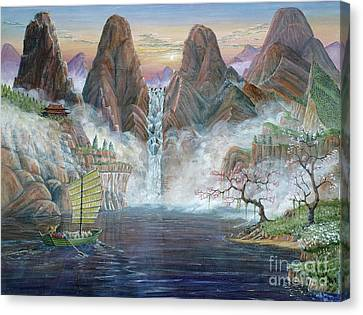 China Dawn Canvas Print by Anthony Lyon