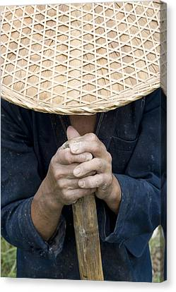 Chinese Peasant Canvas Print - China. Guangxi Province. Guilin by Tips Images