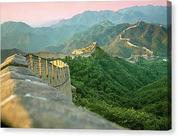 Separation Canvas Print - China, Huairou County, Sunrise by Miva Stock