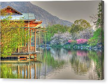 China Lake House Canvas Print