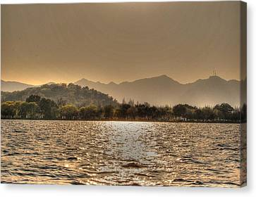 China Lake Sunset Canvas Print
