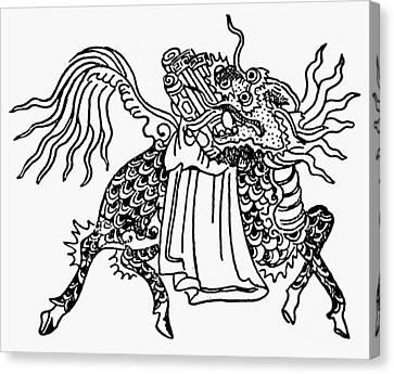 China Mythological Horse Canvas Print by Granger