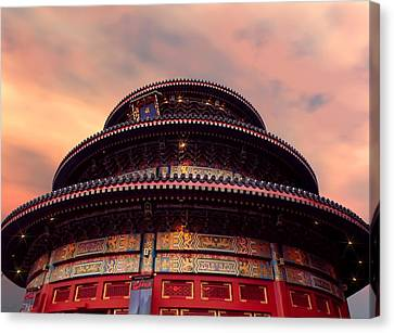 China Pavilion At Sunset Canvas Print by Lourry Legarde