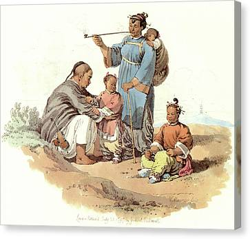 Chinese Peasant Canvas Print - China Peasant Family, 1797 by Granger