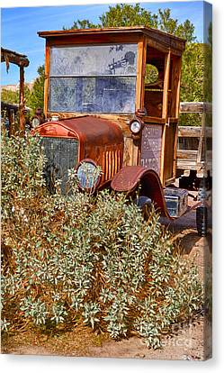 Canvas Print featuring the photograph China Ranch Truck by Jerry Fornarotto