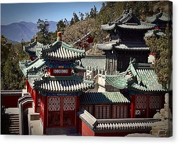 Canvas Print featuring the photograph China Summer Palace by Henry Kowalski