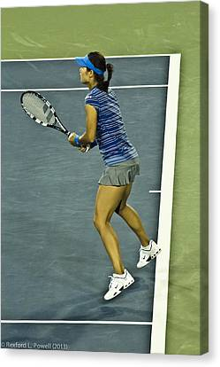 China Tennis Star Li Na Canvas Print by Rexford L Powell