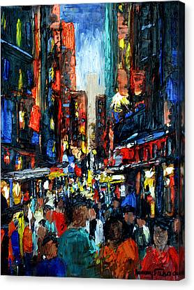 China Town Canvas Print by Anthony Falbo