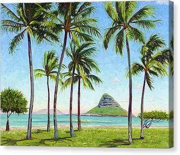 Chinamans Hat - Oahu Canvas Print by Steve Simon