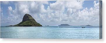 Chinamans Hat Panorama - Oahu Hawaii Canvas Print by Brian Harig