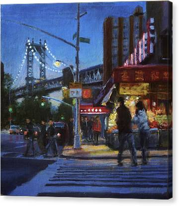 Chinatown Nocturne Canvas Print