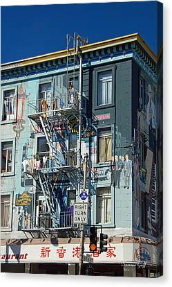 Chinatown San Francisco Scenic I Canvas Print by Suzanne Gaff