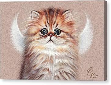 Chinchilla Kitten Angel Canvas Print