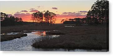 Chincoteague Island Sunset Canvas Print by Jack Nevitt
