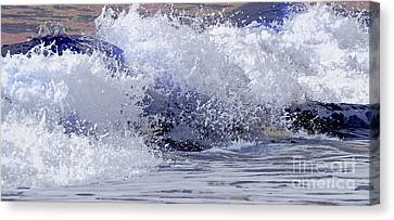 Canvas Print featuring the photograph Chincoteague Waves by Olivia Hardwicke