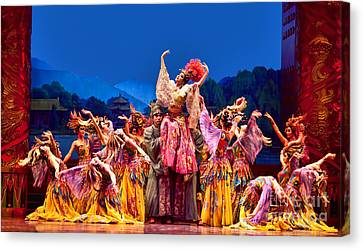 Canvas Print featuring the photograph Chinese Ballet In Xian by Shirley Mangini