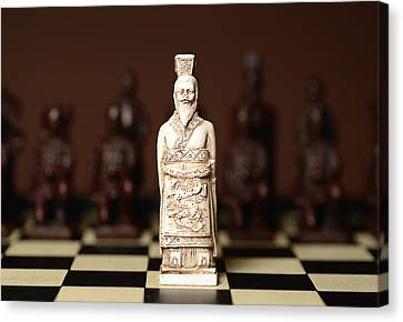 Chinese Chess King Canvas Print by Dick Wood