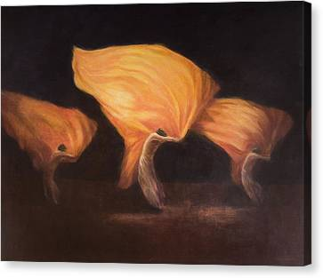 Troupe Canvas Print - Chinese Dancers, 2010 Acrylic On Canvas by Lincoln Seligman