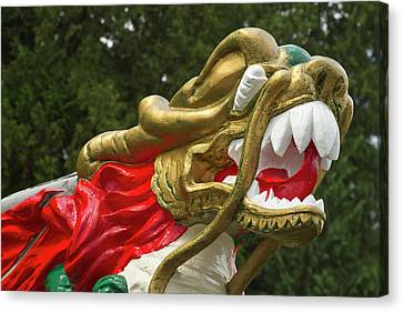 Stanley Park Canvas Print - Chinese Dragonboat Figurehead, Stanley by William Sutton