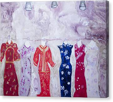 Chinese Dresses Canvas Print