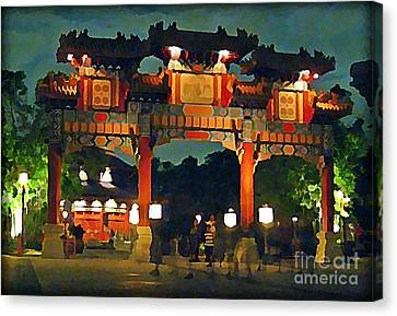 Chinese Entrance Arch Canvas Print by John Malone