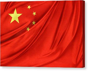 Chinese Flag Canvas Print by Les Cunliffe