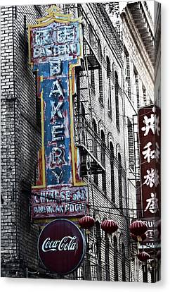 Chinese Food And Coca Cola Canvas Print by Larry Butterworth