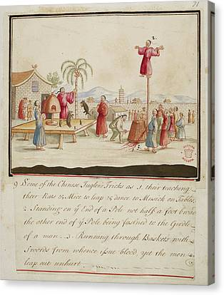 Chinese Jugglers Tricks Canvas Print by British Library