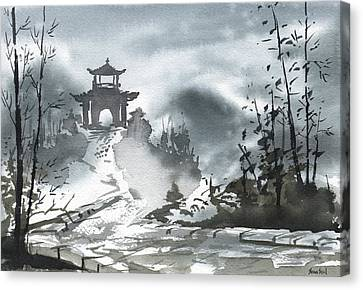 Chinese Landscape Canvas Print by Sean Seal