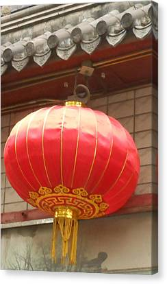 Canvas Print featuring the photograph Chinese Lantern by Kay Gilley