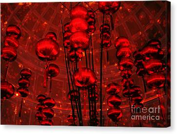 Chinese Lanterns Canvas Print by Julie Lueders