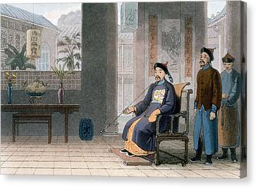 Chinese Of Rank, 1810 Canvas Print