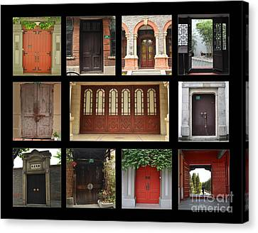Screen Doors Canvas Print - Chinese Portals by Josephine Cohn
