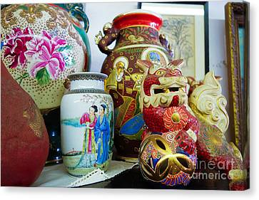 Chinese Pottery And Vases Canvas Print by Amy Cicconi