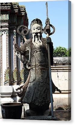Chinese Statue Guards - Wat Pho - Bangkok Thailand - 01133 Canvas Print