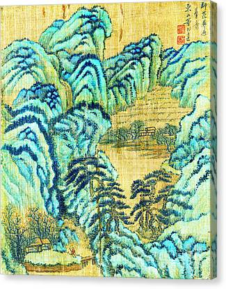 Chinese Teahouse 1730 Canvas Print by Padre Art