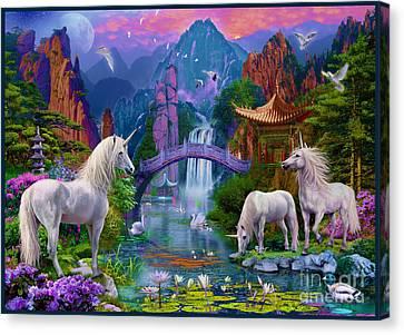 Chinese Unicorns Canvas Print