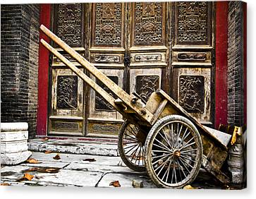 Canvas Print featuring the photograph Chinese Wagon In Color Xi'an China by Sally Ross