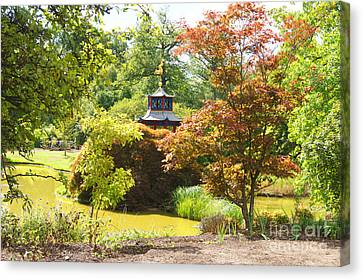 Chinese Water Garden Canvas Print by Jonathan Steward